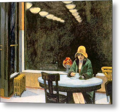 Automat Metal Print by Edward Hopper