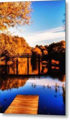 Autumn Afternoon Wears On Metal Print by Jeff Folger