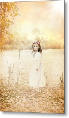 Autumn Angel Metal Print by Cindy Singleton