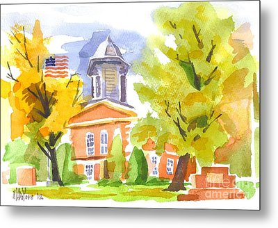 Autumn At The Courthouse Metal Print by Kip DeVore