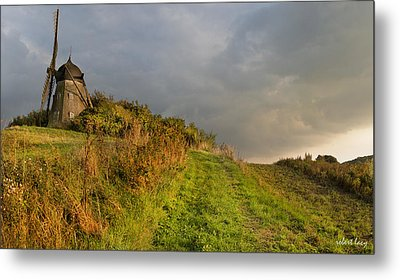 Autumn At The Erholm Mill Metal Print by Robert Lacy