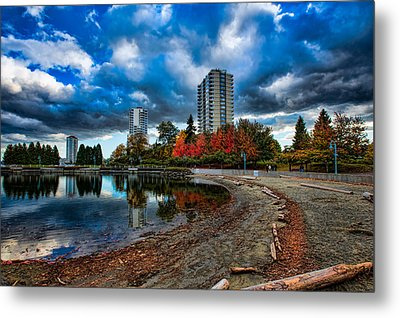 Autumn At The Lagoon Metal Print by Mike Thompson