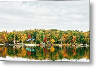 Autumn At The Lake - Pocono Mountains Metal Print by Vivienne Gucwa