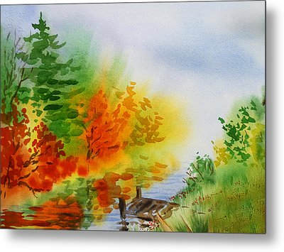Autumn Burst Of Fall Impressionism Metal Print by Irina Sztukowski