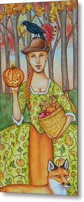 Autumn Colonial Metal Print by Beth Clark-McDonal