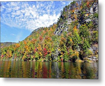Autumn Colors On A Lake Metal Print by Susan Leggett