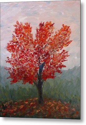 Autumn Fire Metal Print by Nancy Craig