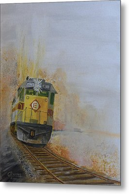 Autumn Fog Metal Print by Christopher Jenkins
