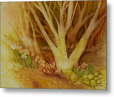 Autumn Forest Metal Print by Hailey E Herrera