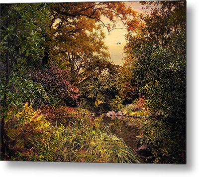Autumn Garden Sunset Metal Print by Jessica Jenney