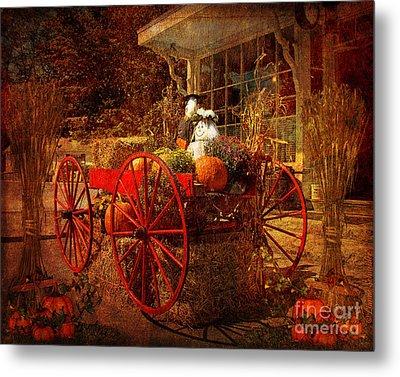 Autumn Harvest At Brewster General Metal Print by Lianne Schneider