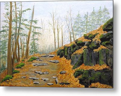 Autumn Hike Metal Print by Peggy King