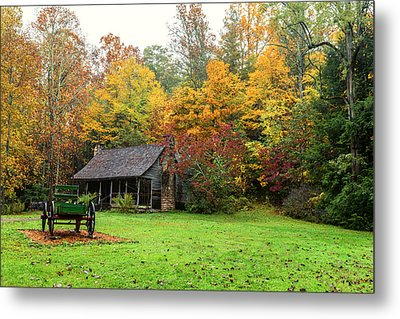Autumn Home Metal Print by Andres Leon