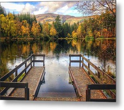Autumn In Glencoe Lochan Metal Print by Dave Bowman