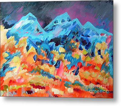 Autumn In Our Mountains Metal Print by Viskan
