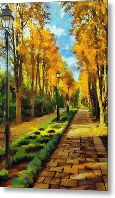 Autumn In Public Gardens Metal Print by Jeff Kolker