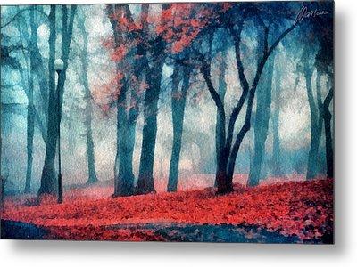 Autumn In The City Metal Print by Marina Likholat