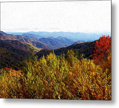 Autumn In The Smokey Mountains Metal Print by Phil Perkins