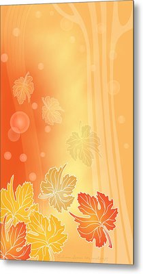 Autumn Leaves Metal Print by Gayle Odsather