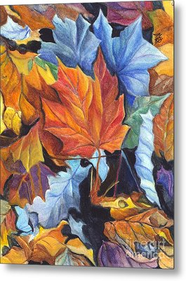 Autumn Leaves Of Red And Gold Metal Print by Carol Wisniewski