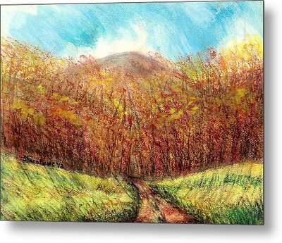 Autumn Meadow Metal Print by Shana Rowe Jackson