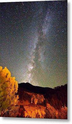 Autumn Milky Way Night Sky  Metal Print by James BO  Insogna