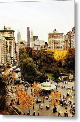 Autumn - New York Metal Print by Vivienne Gucwa