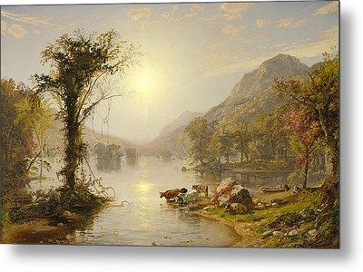 Autumn On Greenwood Lake Metal Print by Jasper Francis Cropsey