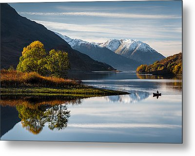 Autumn On Loch Leven Metal Print by Dave Bowman