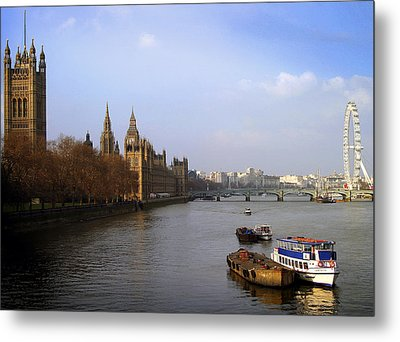 Autumn On The Thames    Metal Print by Stephen Norris