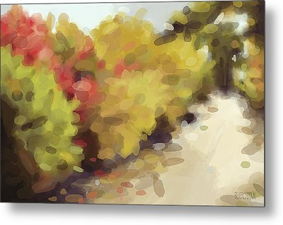 Autumn Path Central Park New York Metal Print by Beverly Brown Prints