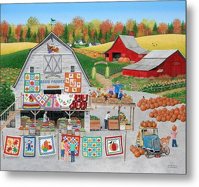Autumn Quilts Metal Print by Wilfrido Limvalencia