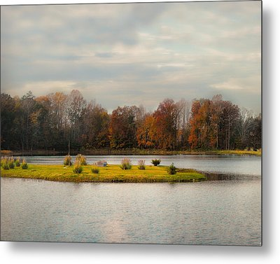 Autumn Rising At The Duck Pond - Autumn Scene Metal Print by Jai Johnson