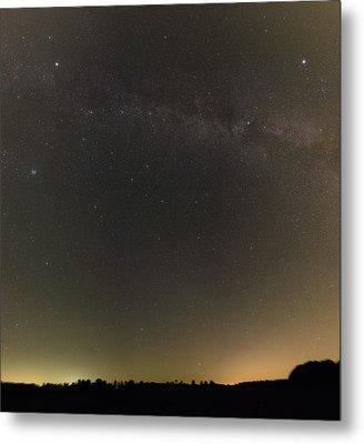 Autumn Stars And Light Pollution Metal Print by Eckhard Slawik