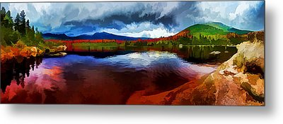 Autumn Storm At Roaring Brook Metal Print by ABeautifulSky Photography