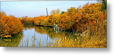 Autumn Weekend On The Delta Metal Print by Joseph Coulombe