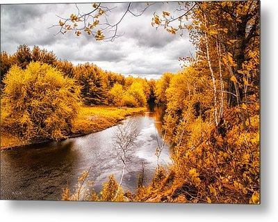 Autumn White Mountains Maine Metal Print by Bob Orsillo