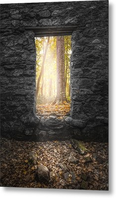 Autumn Within Long Pond Ironworks - Historical Ruins Metal Print by Gary Heller