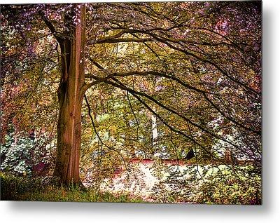 Autumnal Colors In The Summer Time. De Haar Castle Park Metal Print by Jenny Rainbow