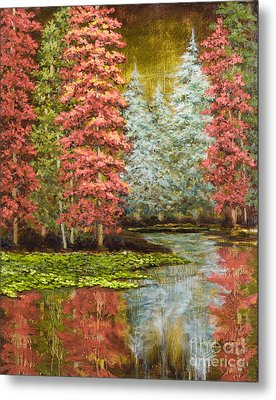 Autumn's Brilliance Metal Print by Vic  Mastis