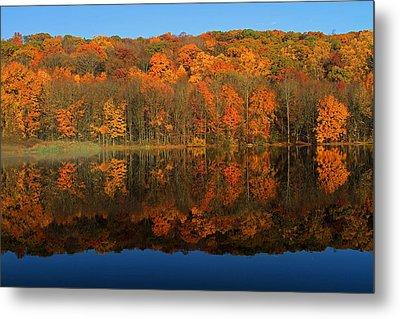 Autumns Colorful Reflection Metal Print by Karol Livote