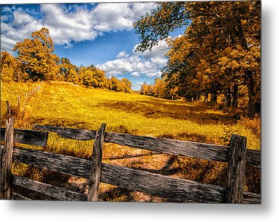 Autumns Pasture Metal Print by Bob Orsillo
