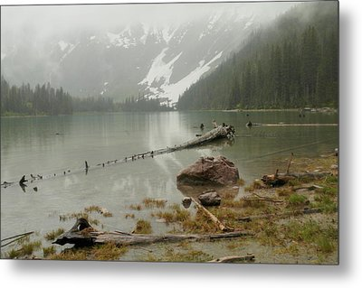 Avalanche Glacier National Park Metal Print by Jeff Swan