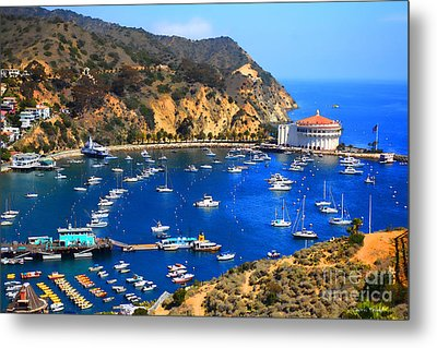 Avalon Harbor Metal Print by Cheryl Young