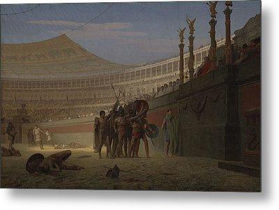 Ave Caesar Morituri Te Salutant , 1859 Metal Print by Jean Leon Gerome