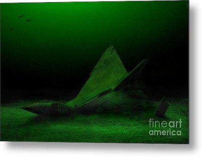 Avro Arrow In Lake Ontario Metal Print by Tom Straub