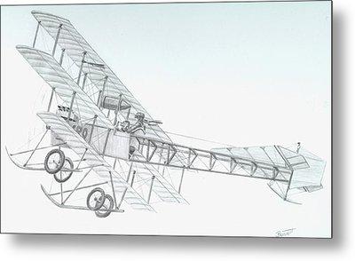 Avro Triplane Metal Print by Rick Bennett