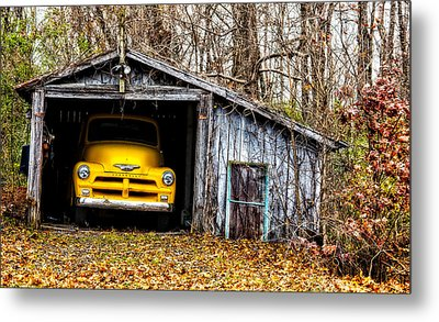 Awaiting The Road Metal Print by Christopher Holmes
