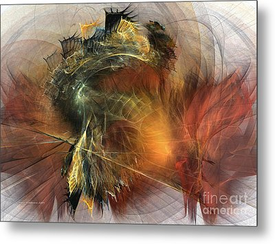 Awakening-abstract Art Metal Print by Karin Kuhlmann