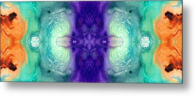 Awakening Spirit - Pattern Art By Sharon Cummings Metal Print by Sharon Cummings